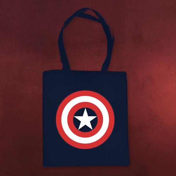 Captain America - Logo Jutebeutel blau