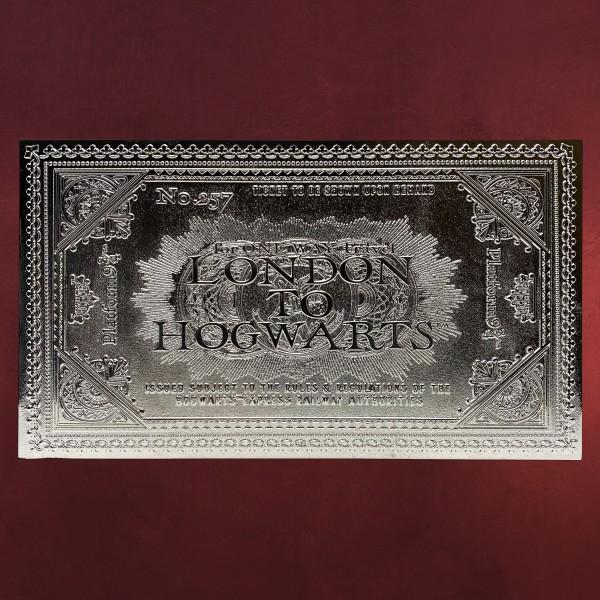 Harry Potter - Hogwarts Express Silber Ticket Replik limitiert
