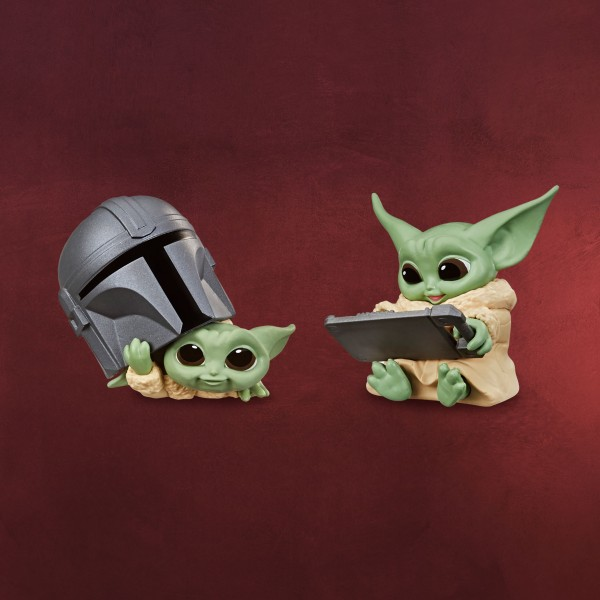 Grogu mit Helm und Tablet Mini-Figuren-Set - Star Wars The Mandalorian