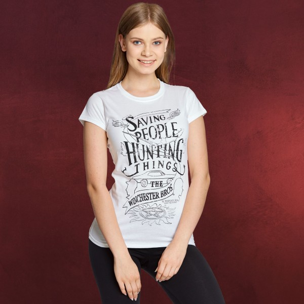 Supernatural - Winchester Bros T-Shirt Damen weiß
