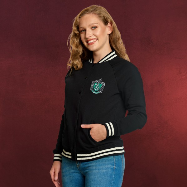 Harry Potter - Slytherin Wappen College Jacke Damen schwarz