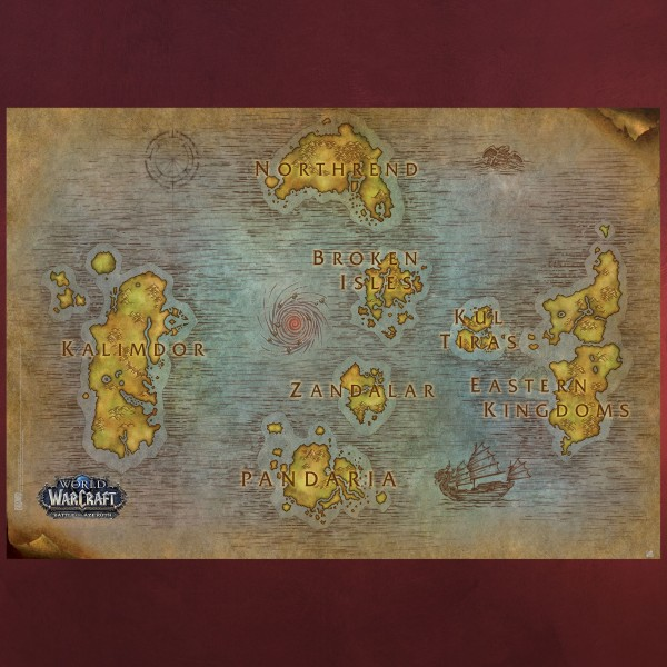 World of Warcraft - Map Maxi Poster