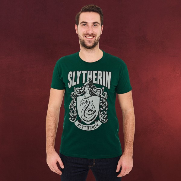 Harry Potter - Slytherin Wappen T-Shirt grün
