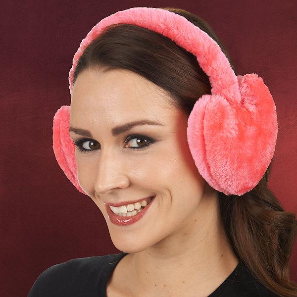 Herz-Ohrenwärmer pink