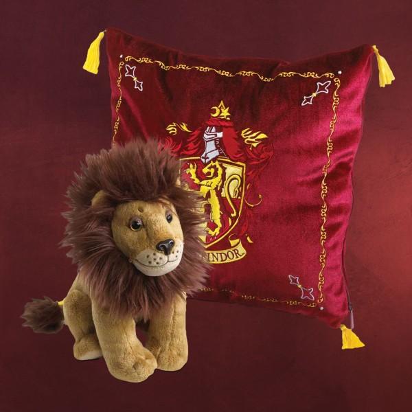 Harry Potter - Gryffindor Wappen Kissen mit Plüsch Figur