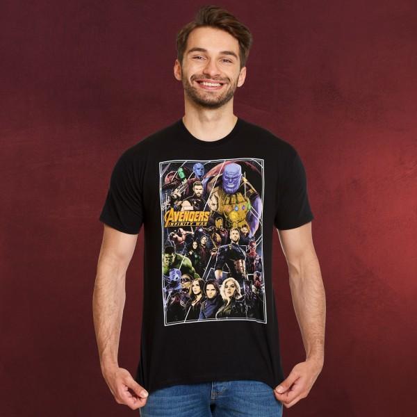 Avengers - Infinity War Poster Collage T-Shirt schwarz