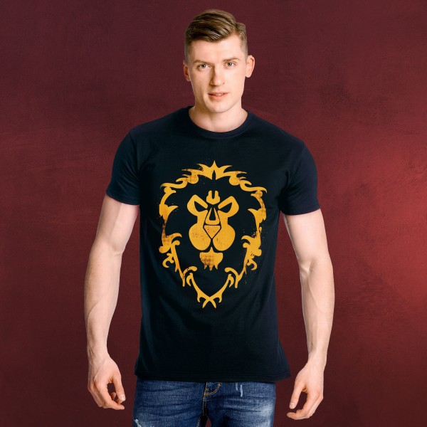 World of Warcraft - Alliance Spray Logo T-Shirt blau