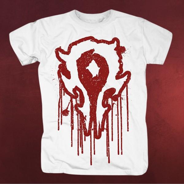 Warcraft - Bloody Horde Logo T-Shirt weiß