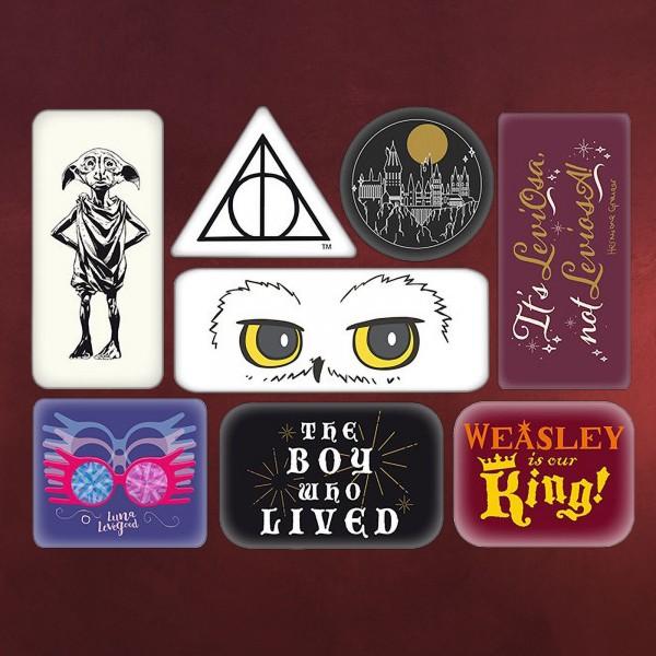 Harry Potter - Hogwarts Quotes & Symbols Magnet-Set