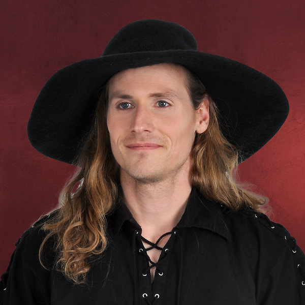 Mittelalterlicher Hut schwarz