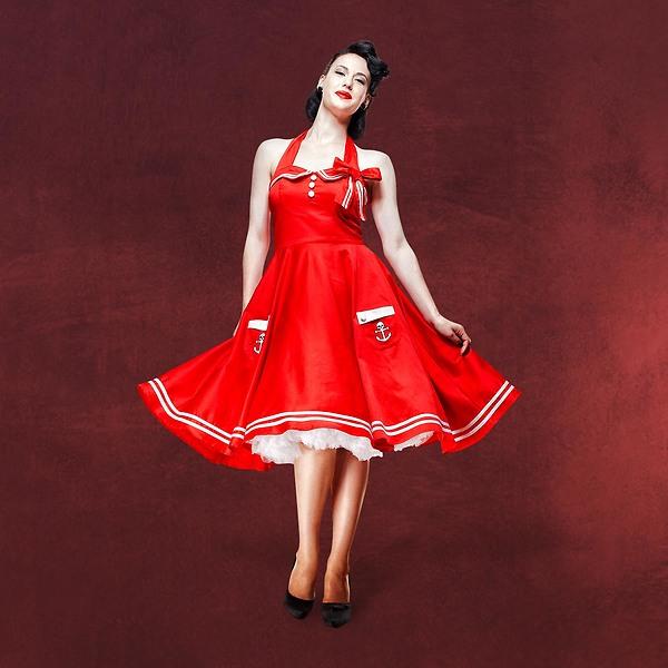 Rockabilly-Kleid Motley rot