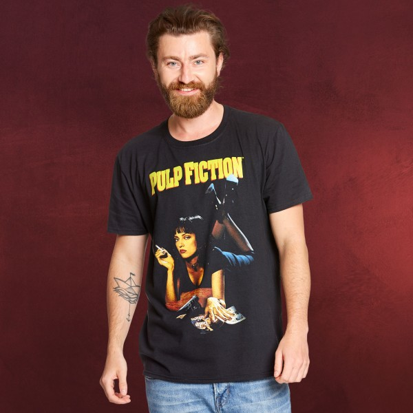 Pulp Fiction - Mia Wallace T-Shirt schwarz