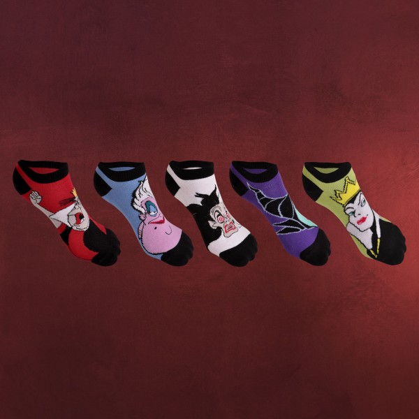Disney - Villains Bad Girls Socken 5er Set