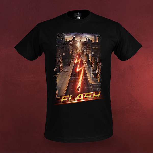 Flash - Night Run T-Shirt schwarz