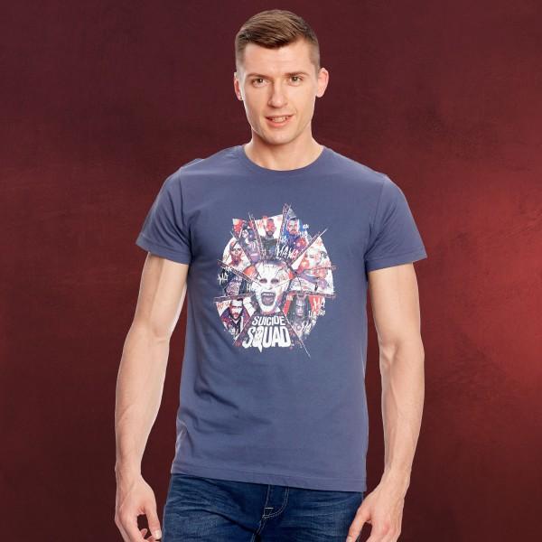Suicide Squad - Joker T-Shirt blau