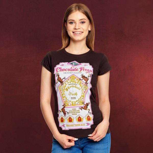 Harry Potter - Honeydukes Schokofrosch T-Shirt Damen braun