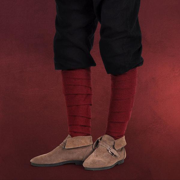 Mittelalterliche Wadenwickel Wolle rot