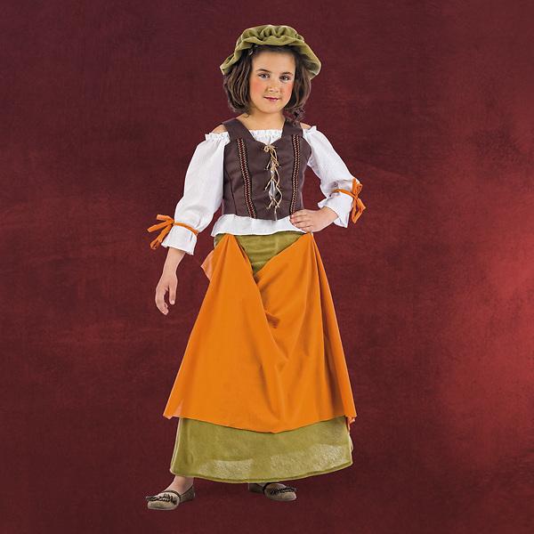 Mittelalter Wirtin Kinderkostüm