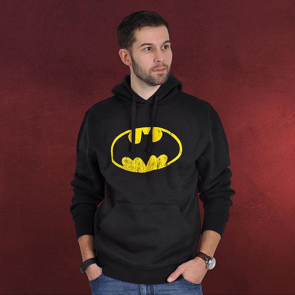 Batman - Distressed Logo Hoodie schwarz