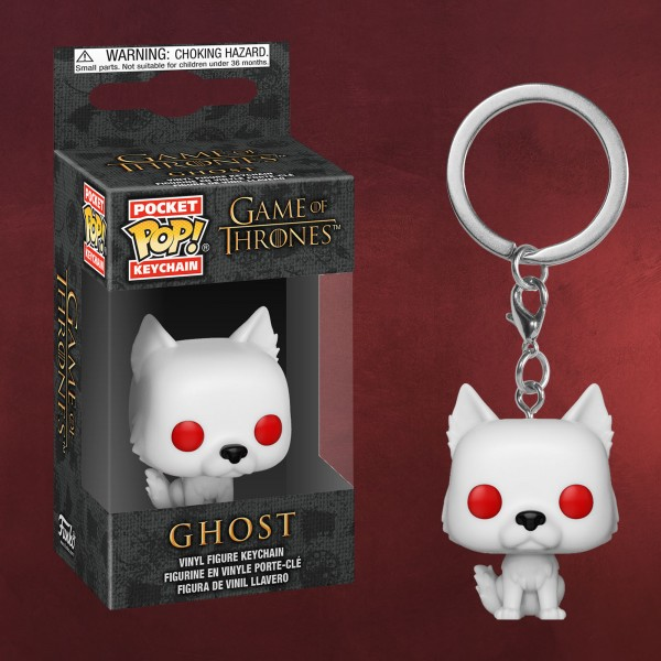 Game of Thrones - Ghost Funko Pop Schlüsselanhänger