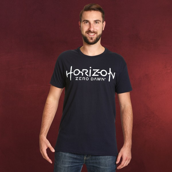 Horizon Zero Dawn - Logo T-Shirt blau