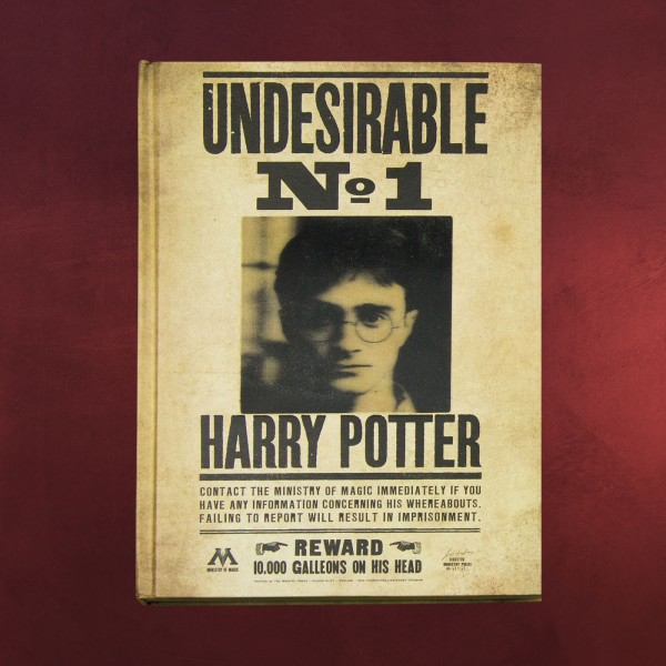 Harry Potter - Undesirable No. 1 Wackelbild Notizbuch