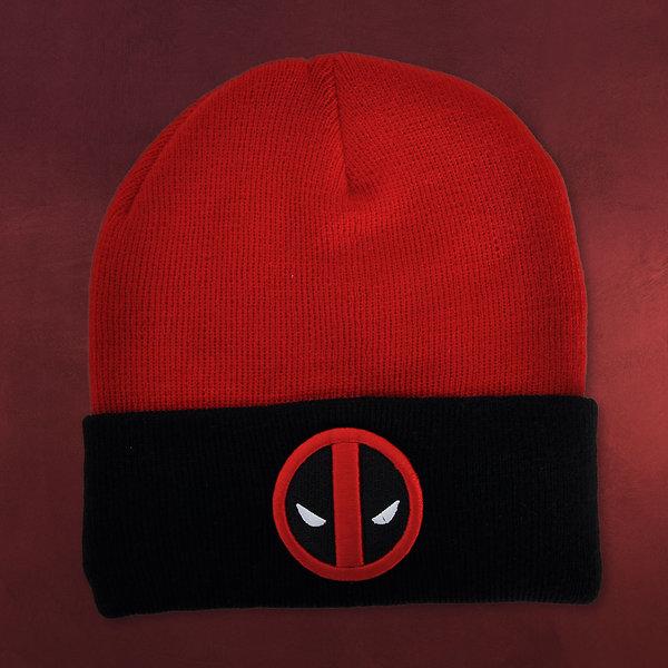 Deadpool - Logo Mütze rot-schwarz