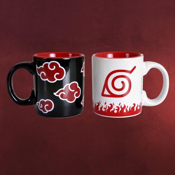Naruto - Akatsuki und Konoha Espresso Tassenset
