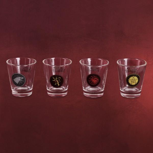 Game of Thrones - Häuser Wappen Shots Gläserset