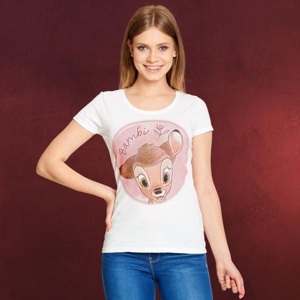 Bambi T-Shirt Damen weiß