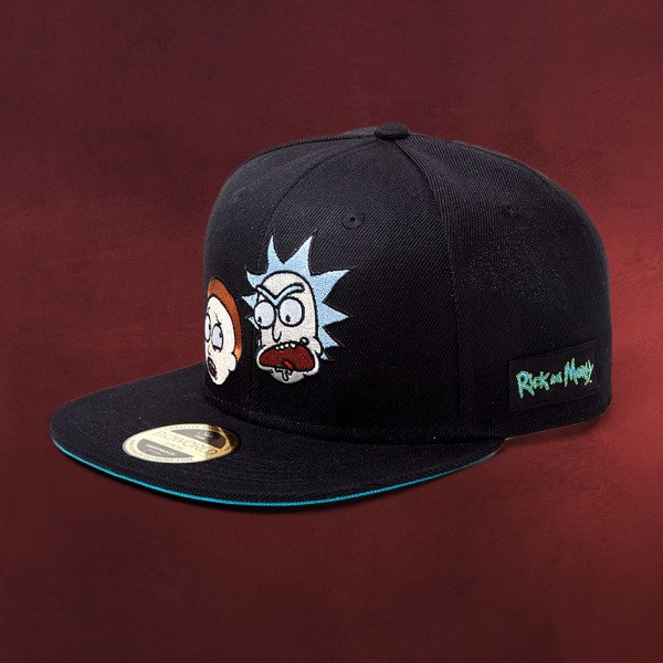 Rick and Morty - Faces Snapback Cap schwarz