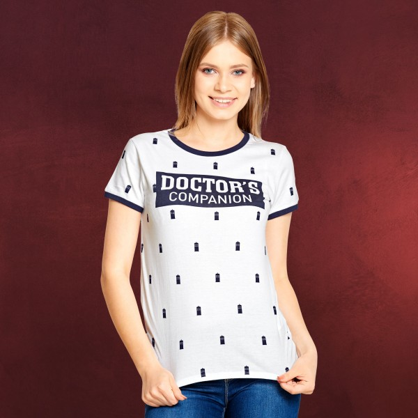 Doctor Who - Doctor's Companion T-Shirt Damen weiß