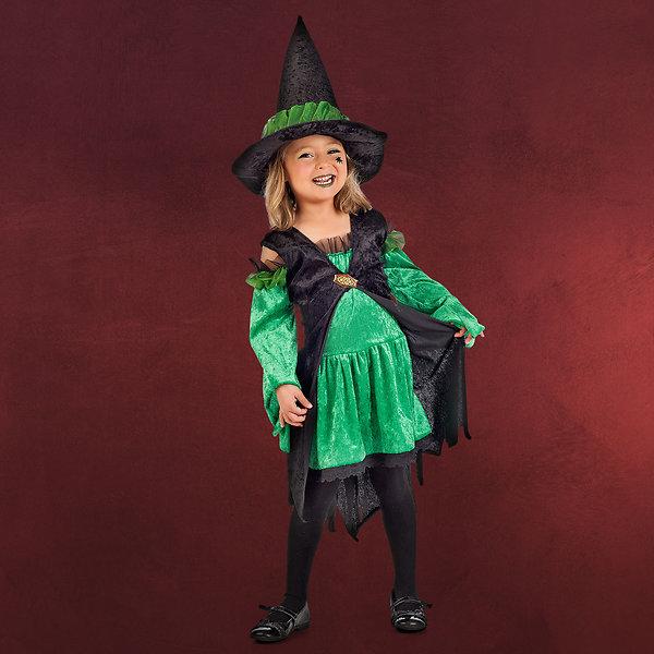 Freche Hexe - Kostüm Kinder grün