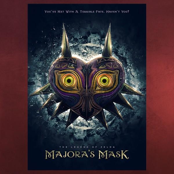 Majoras Maske Metall Poster für Zelda Fans
