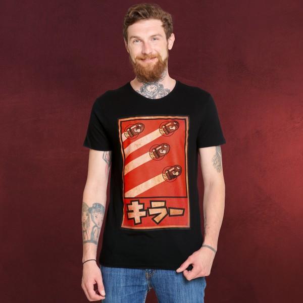 Super Mario - Kugelwilli Propaganda Poster T-Shirt schwarz