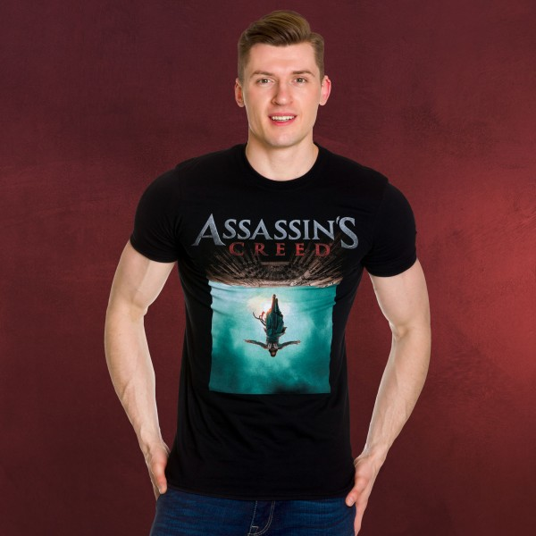 Assassins Creed - Movie Poster T-Shirt schwarz