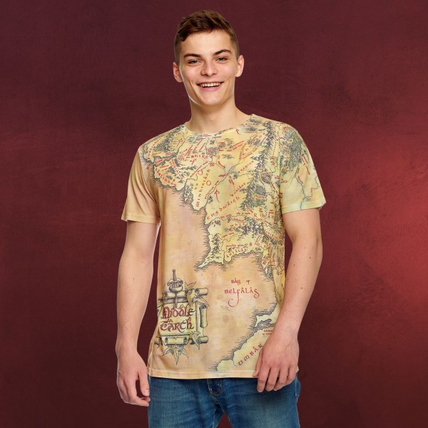 Herr der Ringe - Karte von Mittelerde T-Shirt