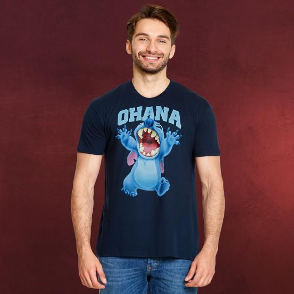 Lilo & Stitch - Ohana T-Shirt blau