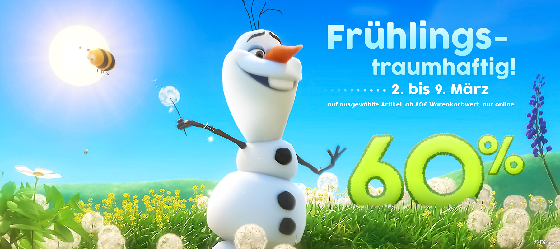 60% Frühlingstraum-Aktion