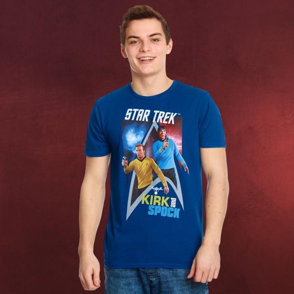 Star Trek - Kirk & Spock T-Shirt blau