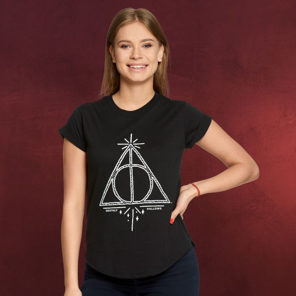 Harry Potter - Heiligtümer des Todes T-Shirt Damen Loose Fit schwarz