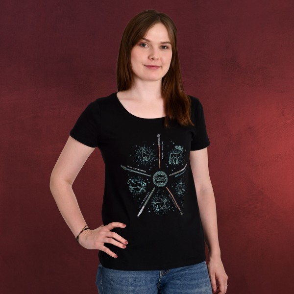 Harry Potter - Patronus Friends T-Shirt Damen schwarz