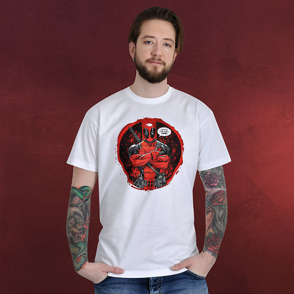 Deadpool - No Nerds T-Shirt weiß