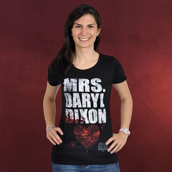 Walking Dead - Mrs. Dixon Girlie Shirt schwarz