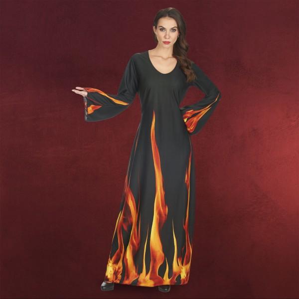 Feuer-Zauberin - Kostüm Damen schwarz