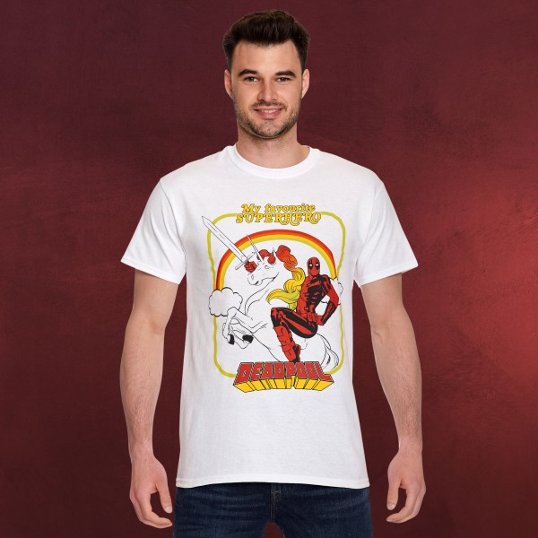 Deadpool - My Favourite Superhero T-Shirt weiß