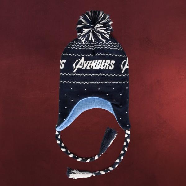 Avengers - Logo Mütze mit Bommeln
