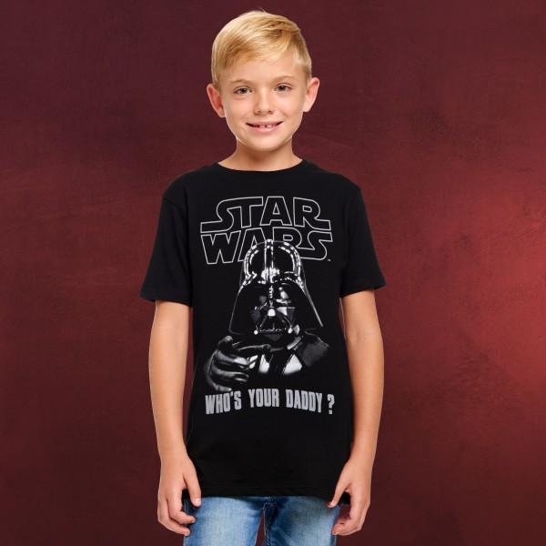 Star Wars - Darth Vader Who's Your Daddy T-Shirt Kinder schwarz