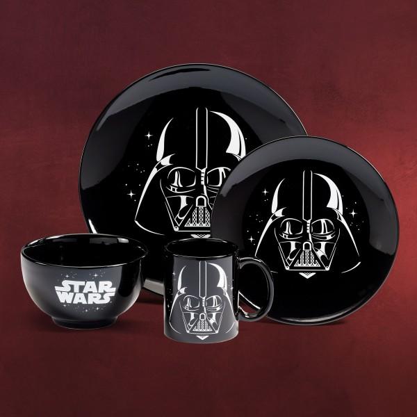Star Wars - Darth Vader Geschirrset schwarz