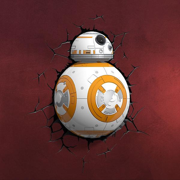 Star Wars - BB-8 3D LED Wandlicht